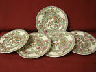 Coalport China England Floral Indian tree gray Green Smooth 5 small plate 4