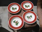 4 TARGET HOME CHRISTMAS TREES QUILT TYPE PATTERN SOUP BOWLS