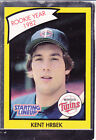 1990  KENT HRBEK - Kenner Starting Lineup Card - Minnesota Twins - (YELLOW)