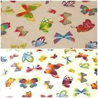 BRIGHT FUNKY BUTTERFLY WIPECLEAN TABLECLOTH KITCHEN TABLE COVER OILCLOTH FABRIC