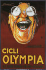 Olympia BICYCLES Vintage Ad Poster Achille MAUZAN Italy 1923 24X36 HOT NEW QW0