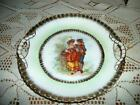 ANTIQUE CHIC PORTRAIT PLATE ROMANTIC COUPLE HANDLES SHABBY COTTAGE