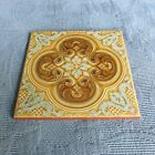 Vintage La Campanella Sassuolo Tile with Raised Decoration, 6 by 6 Inch