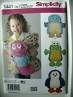 Simplicity Pattern 1441 Animal Rag Quilts Pillows frog penguin butterfly bird