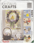 Easter Chicks Bunnies Angels Wreath Seasonal Dolls McCALL Sew Pattern 9257 Uncut