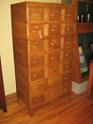 Remington Rand Oak Library Card File Catalog Cabinet Chest 21 Drawers Stacking