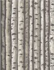 'DEER IN THE WOODS' BIRCH TREES FLANNEL FABRIC - TIMELESS TREASURES