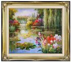 Framed Monet Water Lily Pond Repro 10, Quality Hand Painted Oil Painting 20x24in