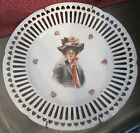 Vintage Gibson Girl Open Work Plate Copyright by Philip Boileau 9 1/2 inches