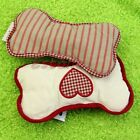 Popular Pet Puppy Chew Toy Squeaker Sound Squeaky Canvas Love Bone Style Toy 1PC