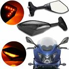 LED Turn Signal Integrated Mirrors For Suzuki Katana GSXR 600 750 1000 Hayabusa