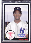 1990  ROBERTO KELLY - Kenner Starting Lineup Card - New York Yankees - (BLUE)