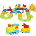 Kids Toy Electric Train Set w Lights  Sound Colorful Tracks Battery Operated