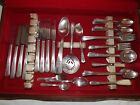 Wm. Rogers Silverplate Flatware Desire 71pc Set + Other Baby Fork Spoon NO BOX