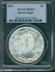 1987 American Silver Eagle ASE S1 PCGS MS69 MS 69