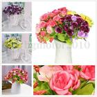 21Heads Artificial Rose Flower Fake Silk Wedding Bedroom Party Decor XMAS US