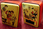 COLORFUL OLD CHILDRENS TIN DIME REGISTER SAVINGS BANK