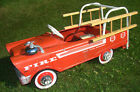 Vintage MURRAY Pedal Car FIRE TRUCK Engine with Wooden Ladders