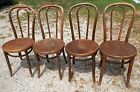 4 Antique Bentwood Cafe/Dining/Side Chairs Thonet Style
