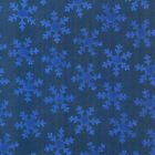 Christmas Joy Blue Snow Flakes on Blue fabric Quilt Cotton by Blank Winter