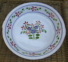 Casafina Portugal Gray Red Clay Pottery Deep Pie Plate Red Blue Flower Blue Trim