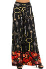 Women's Casual Pants Wide Leg Long Loose Palazzo Trousers Keychain Printed