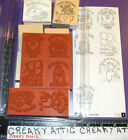 STAMPIN UP NICE AND EASY NOTES 8 RUBBER STAMPS THANKS BIRTHSDAY FRIEND GET WELL
