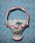 REEL Portugal Hand-Painted Floral Basket w/Braided Handle VGC Free US Ship