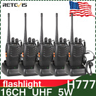 5 x Retevis H777 Walkie Talkie 16CH CTCSS/DCS UHF 5W 2-Way Radio, Earpiece US