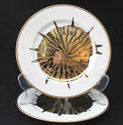 Fitz & Floyd Coquille Combinees Nautilus Shell Salad Plate set of two