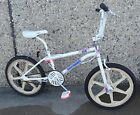 GT Performer Old School Freestyle BMX Bike White Mags 20 inch Gyro Rotor Used