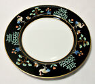 Fitz and Floyd Chinoiserie Salad Plate Oriental Cranes Pagodas 7.5