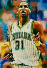 REGGIE MILLER PACERS 2 #11 25 SKETCH CARD SIGNED EDWARD VELA ART AUTO ACEO PRINT