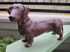 XRARE ANTIQUE HUBLEY DACHSHUND DOG CAST IRON ART STATUE DOORSTOP MADE IN USA