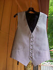 Super Elegant Men's Formal Black and White Jacquard 100% Silk Vest M 39 - 41 USA