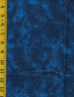 Mendocino Navy Blue Teal Night Sky with Stars Cotton quilt fabric by P