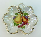 Vintage Ucagco Fruit Design Dish Occupied Japan Hand Painted Gold Edge 8.5 Inch