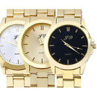Luxury Mens Watches Gold Analog Quartz Stainless Steel Wrist Watch Gift LOT