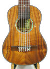 Alulu Solid Curly Hawaiian Koa Baritone Guitarlele Design Dots HU1434