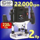 SIP 01478 Professional 1500w 1/2 Plunge Router cutter 2hp with case 2yr warranty