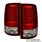 2009 2018 Dodge Ram 1500 2500 3500 Red Clear LED Tail Lights Signal Brake Lamps