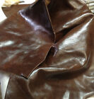 SPL09 Leather Cow Hide Cowhide Upholstery Craft Fabric Oak Brown 20 sf Pieces
