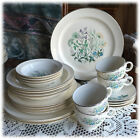 Taylor Smith Taylor Vintage 1950s Wildflower China Service for 4 Platinum 252