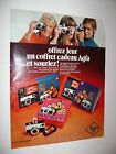 Original vintage 1960's Ad print  AGFA ISO PACK CRISTMAS GIFT CAMERA PHOTO