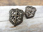 Antique Brass Metal Shield Cross Knob Drawer Pull ~ Old World  Home Decor ~ New