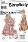 UNCUT Vintage Simplicity Sewing Pattern Girls Daisy Kingdom Dress Hat 0615 RARE
