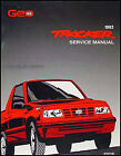 1993 Geo Tracker Shop Manual 93 Chevy OEM Original LSi Repair Service Book
