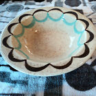 RED WING Pottery Vintage Hand Painted Small Bowl Oven Proof USA 210 Blue Brown