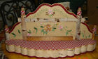 VTG FRENCH COUNTRY COTTAGE TRACY PORTER EMBROIDERED FLORAL FLOWER BIRCH SHELF