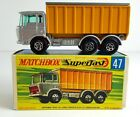 Matchbox Superfast #47 DAF Tipper Container Truck G Box MIB Diecast